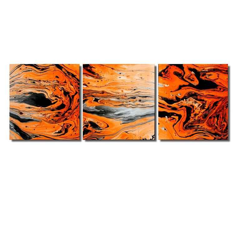 Orange/White Lava V2 -