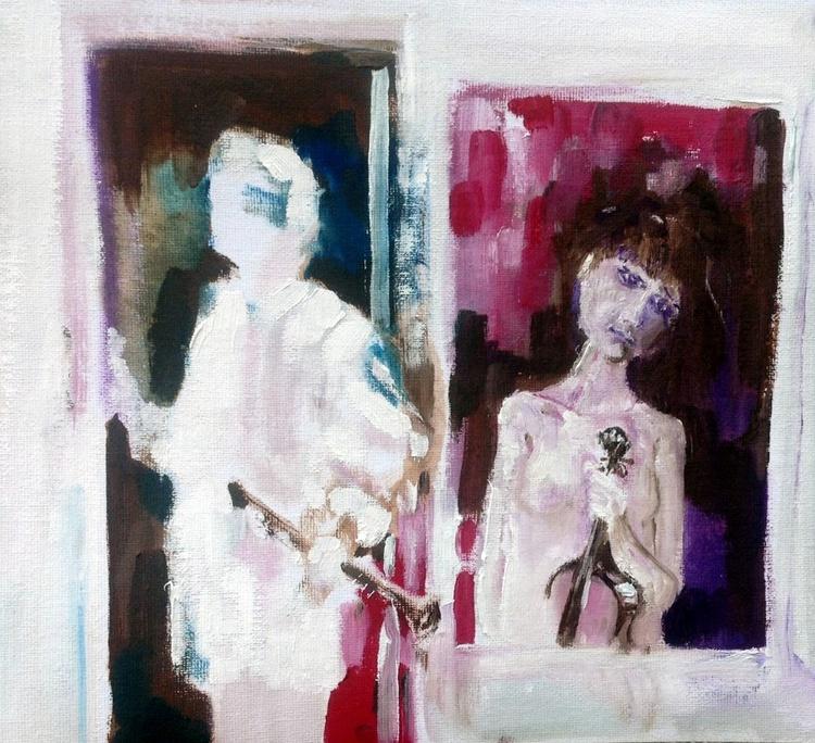 Woman in Window, Man in Door - Image 0