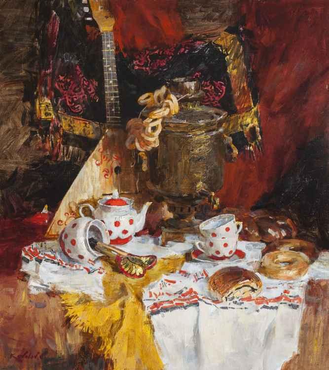 tea with bagels