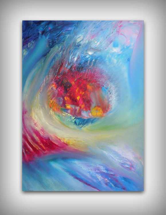Soft fancy - 50x70 cm,  Original abstract painting, oil on canvas - Image 0