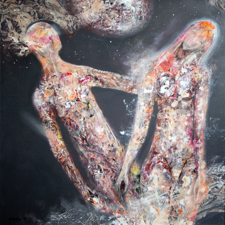 ANCESTRAL COSMIC WEDDING LOVE COUPLE DREAM FANTASY ECLECTIC ONIRIC ART BY MASTER KLOSKA - Image 0