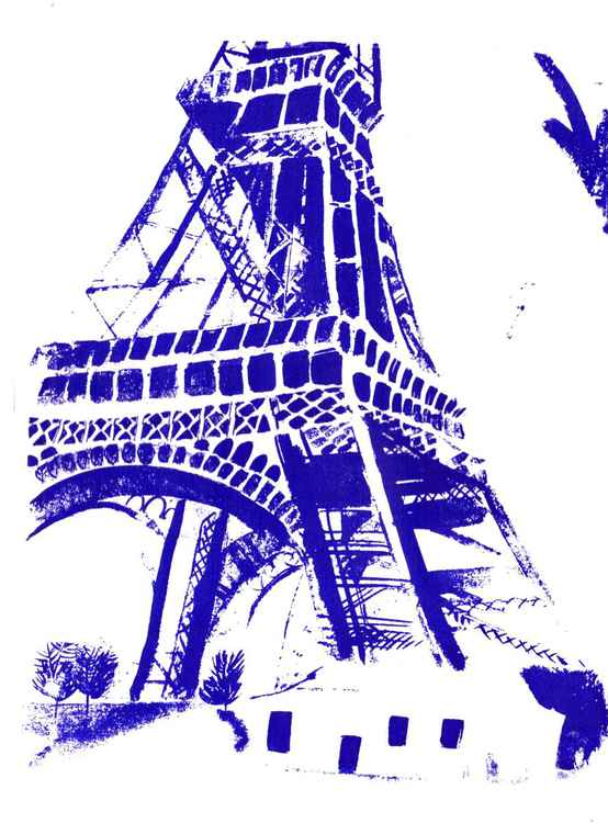 Eiffel Tower Screenprint -