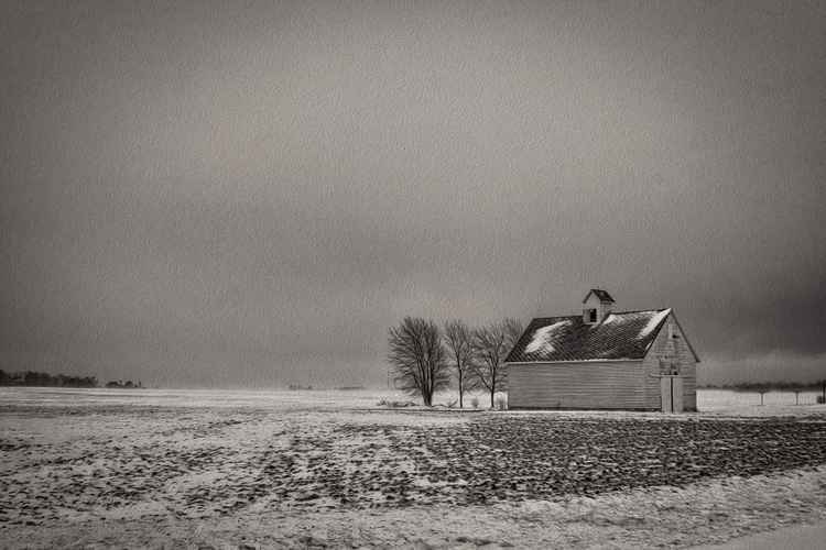 Late on a Cold Prairie Day -