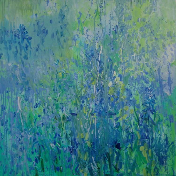 Blue Bell Hill. 100X100cm - Image 0