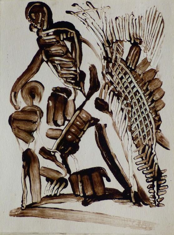 Skeletons, embossed effect, 24x32 cm - Image 0