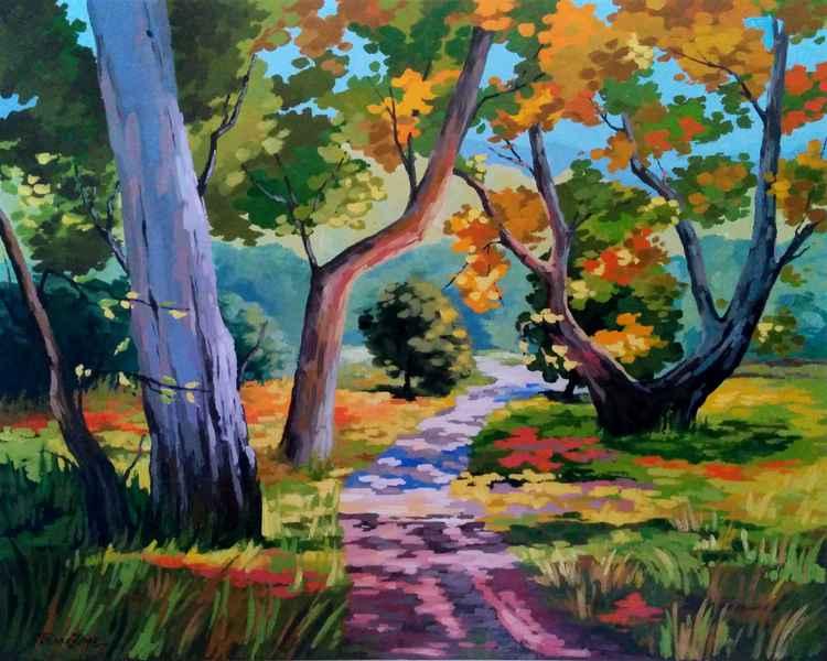 Autumn walk - 36,2x28,7 in (92x73 cm)