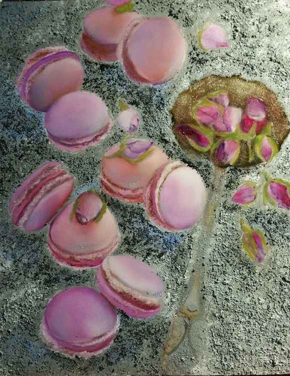 Macaroons and Rose Buds