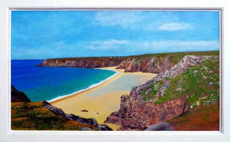 View towards Porthcurno from The Logan Rock promintory.