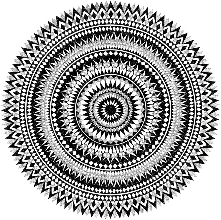 Mandala Screen Print - Image 0