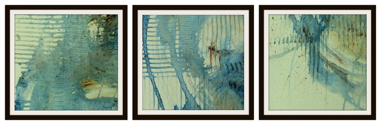 THE 70's I - 3 ABSTRACTS - unframed - Image 0
