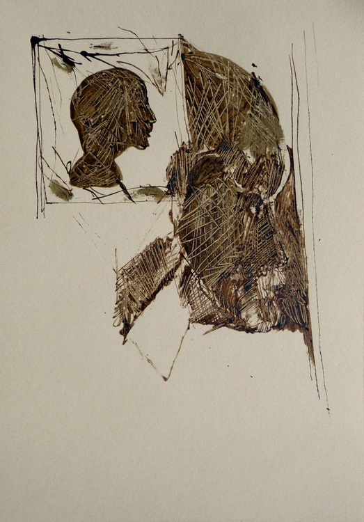 Brown Heads 4, 21x29 cm - Image 0