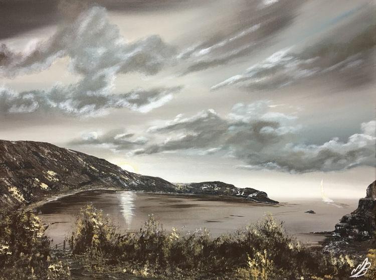 Lulworth Cove in sepia tones - Image 0