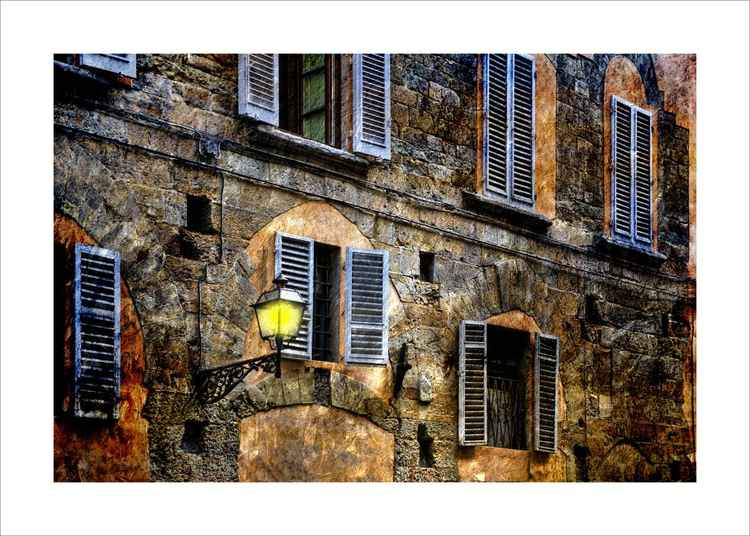 Street Lamp and Buildings -