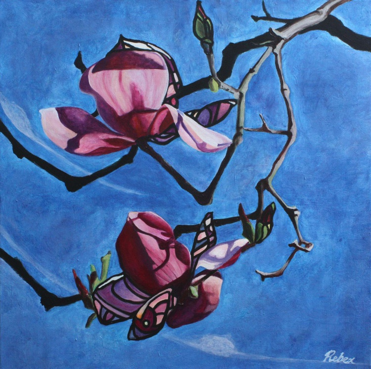 Magnolia II (61 cm by 61 cm, 24 in by 24 in, ready to hang) - Image 0