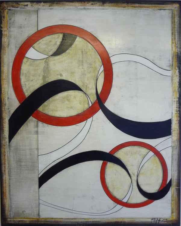ad infinitum XXL Painting 120x150x5 cm -