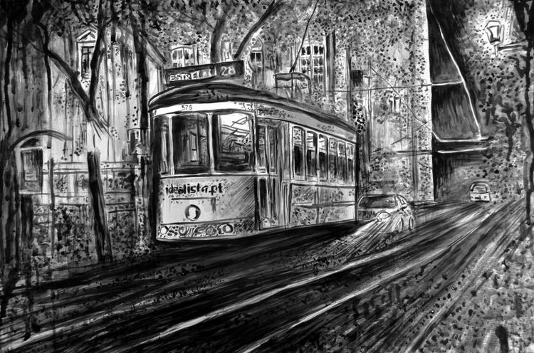 Night Tram in Lisbon - Image 0