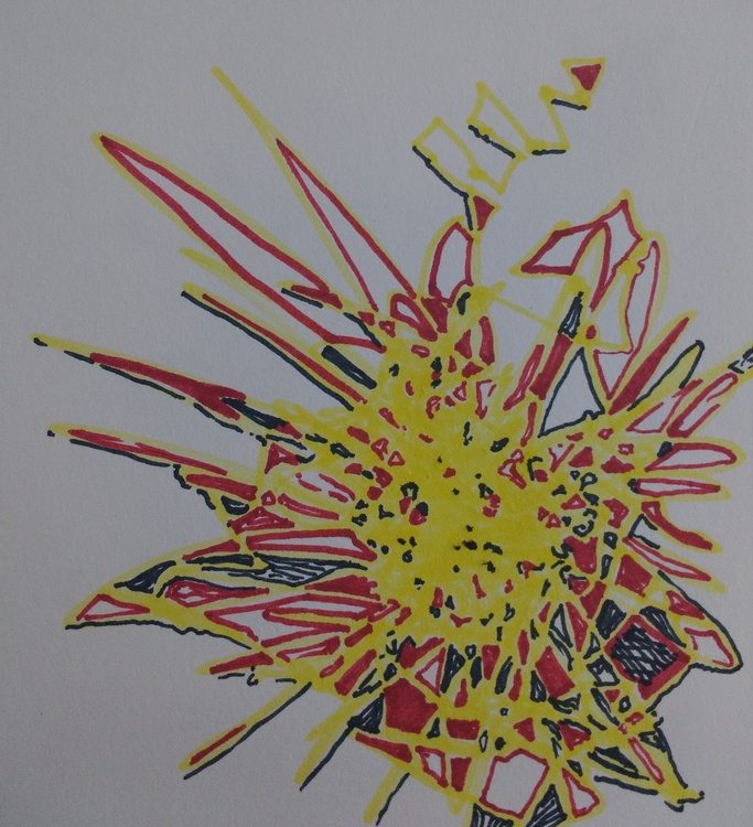 Bright Spark Drawing (13cm x 14cm) - Image 0