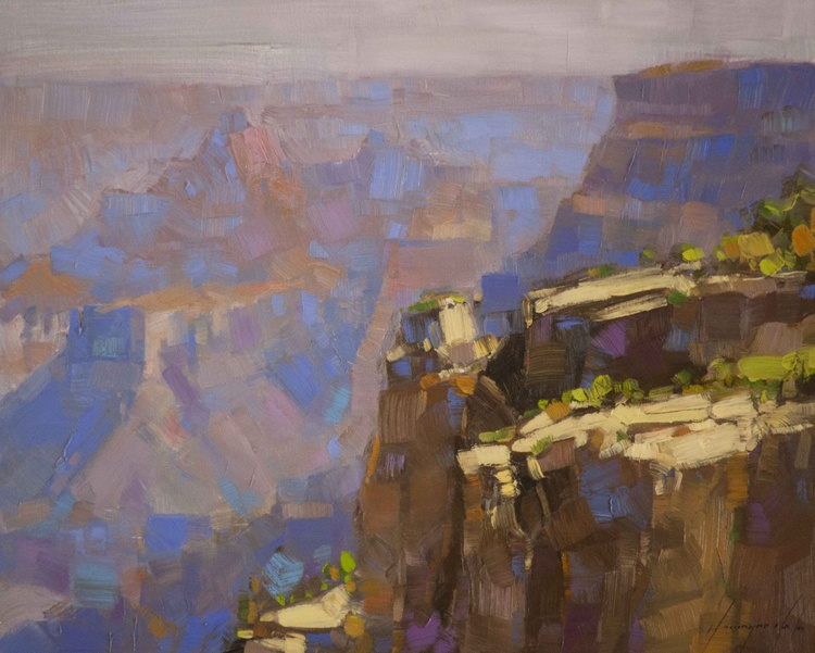 Grand Canyon Arizona Original painting on canvas One of a kind - Image 0