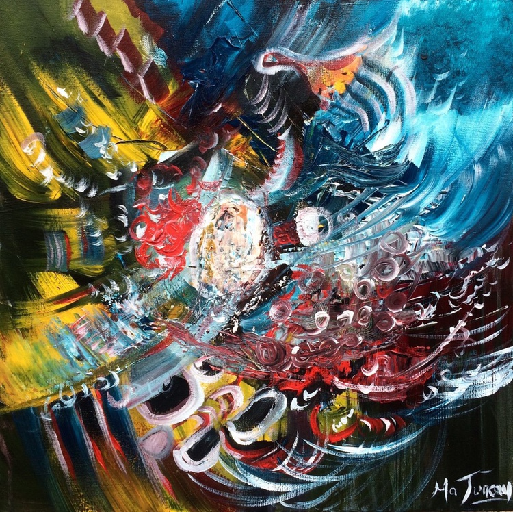"""""""Trouble"""" ,  20x20inches / 50x50cm - Acrylic Painting // original painting - Image 0"""