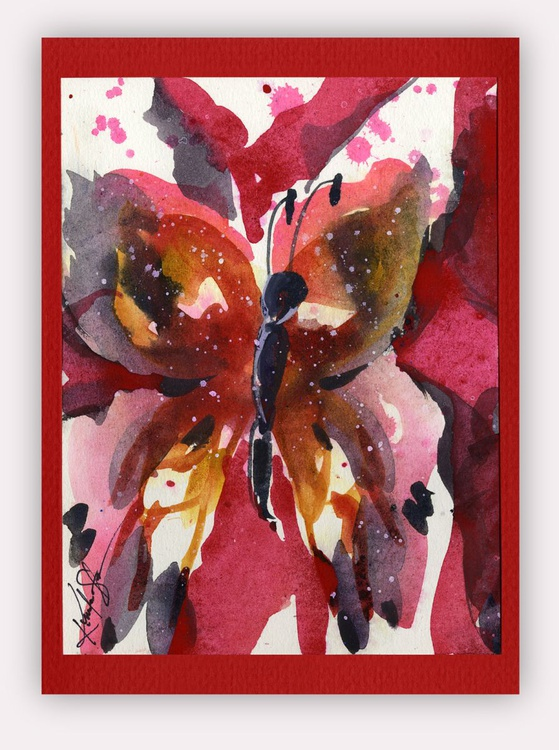 Butterfly Watercolor Painting - Butterfly Delight No. 12 - Image 0