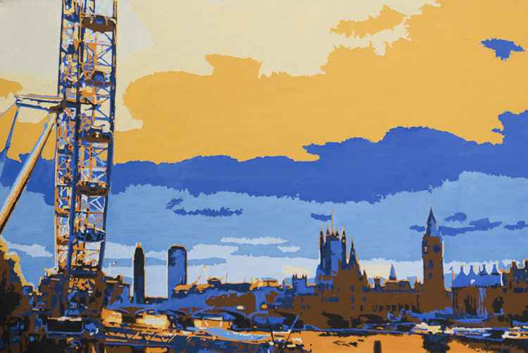 London painting _ The London eye -