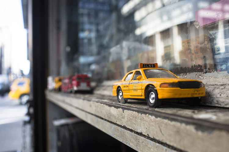 Toy Yellow Cab, New York -
