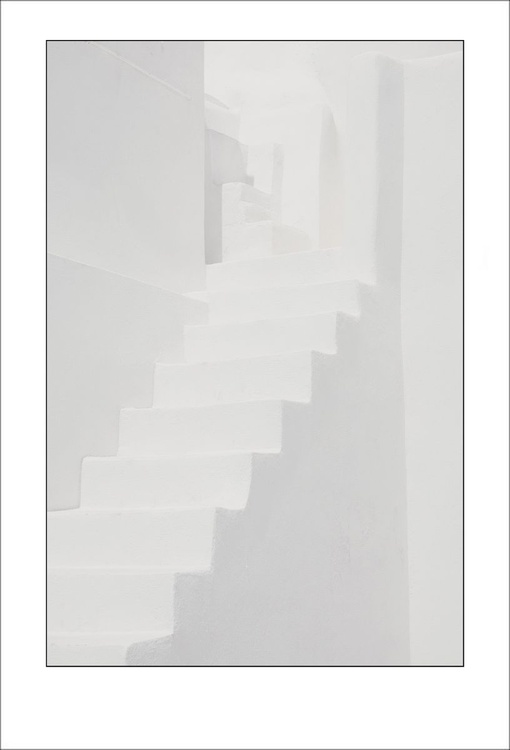 From the Greek Minimalism series: Greek Architectural Detail (White and White) # 8, Santorini, Greece - Image 0