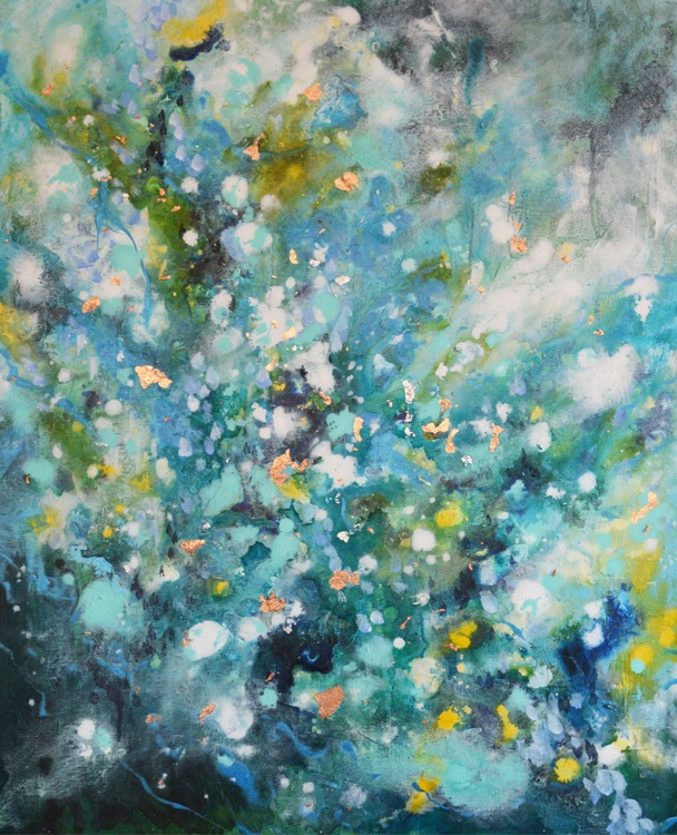 """Unknown Voyage II - 30"""" x 24"""" Original Abstract Painting - Image 0"""
