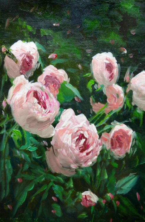 Roses, oil painting 20x30 cm - Image 0
