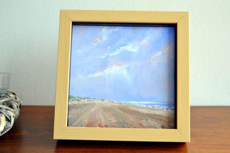 Beach Zoutelande oil  (framed) - Image 0