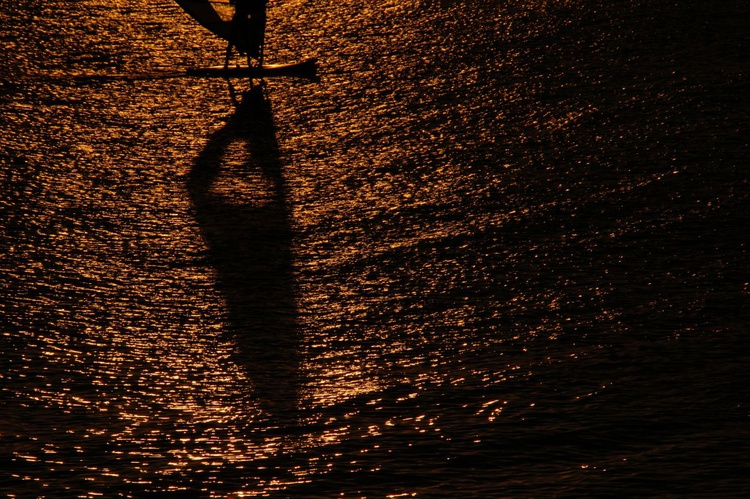 """Silhouette of a windsurfer"" - Image 0"