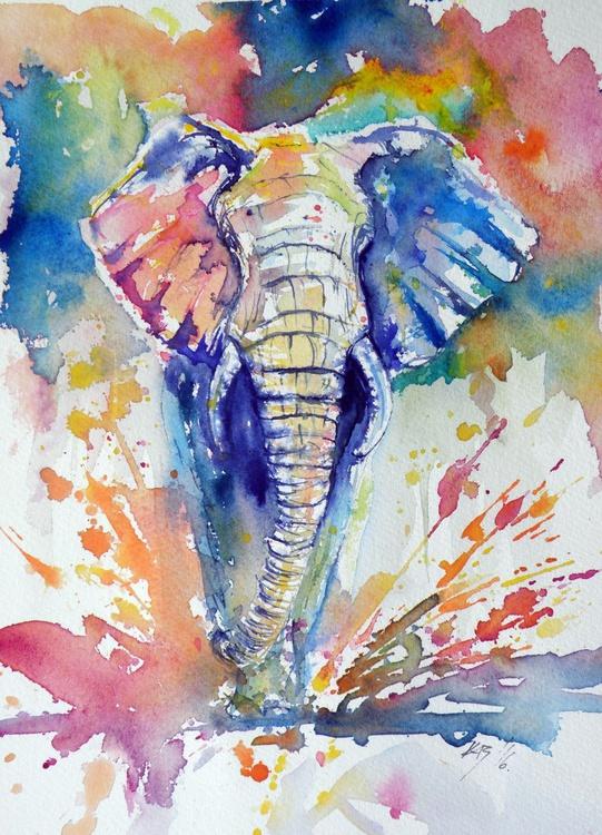 Running elephant - Image 0