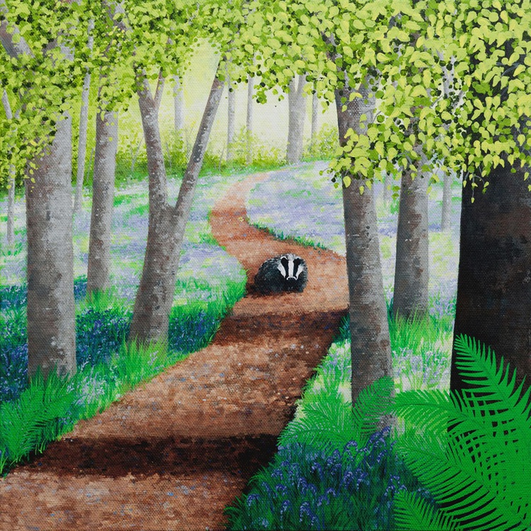 Bluebells and Badger - Image 0