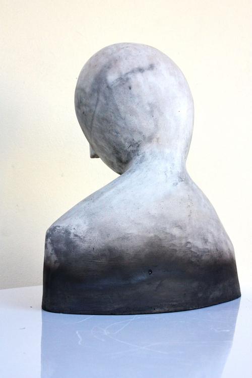SHE, modern sculpture woman bust - Image 0