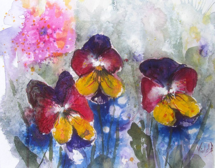 Abstract Pansies  - Image 0