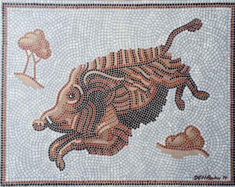 Mosaic Boar