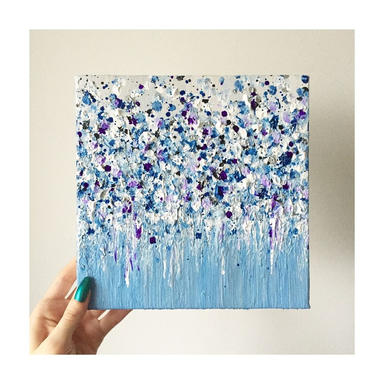 Blue Winter Flowers - Image 0