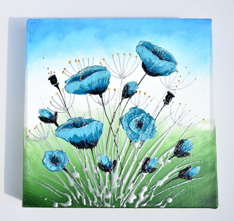 Teal Flowers - Image 0