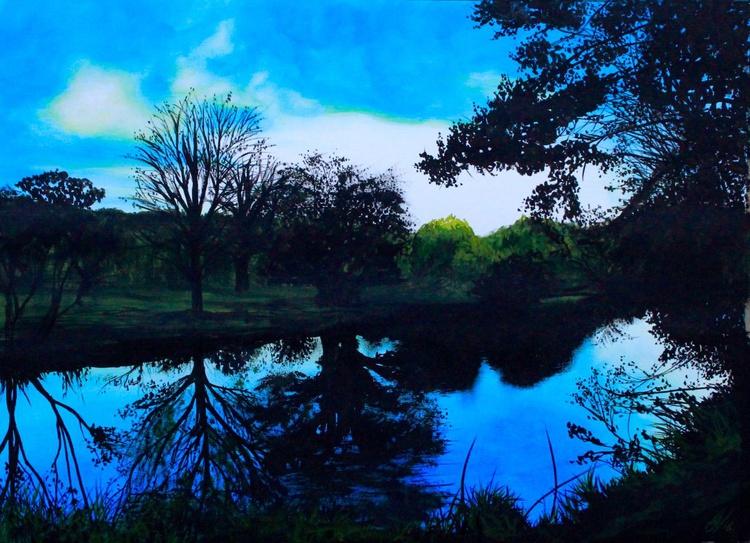 Short Days (Riverbank at Sunset) - Image 0