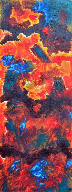 Abstract Coral - Long Deep Edge Canvas - Image 0