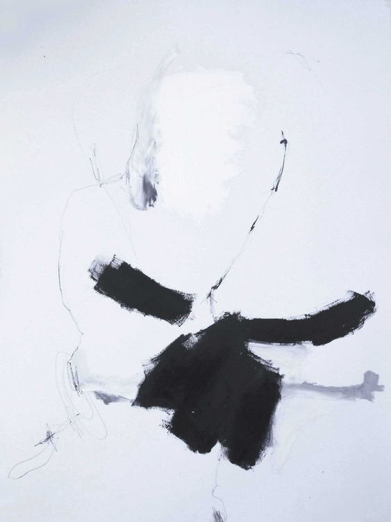 In order to establish facts and reach new conclusions / 2, ABSTRACT LARGE,BLACK AND WHITE,70X100CM-27.5X39.3 INCH - Image 0