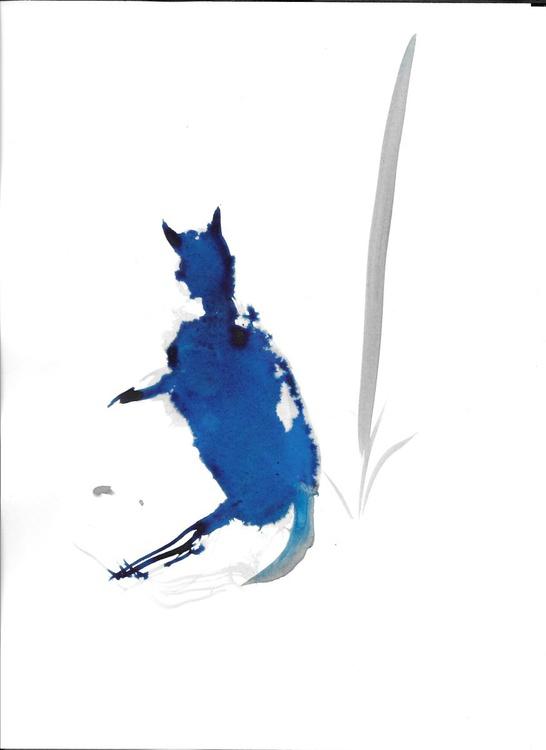 Blue cat, 21x29 cm - Image 0