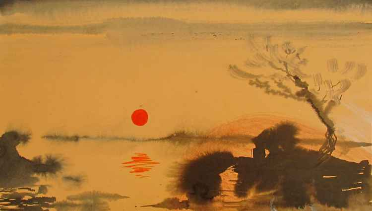 The red sun -
