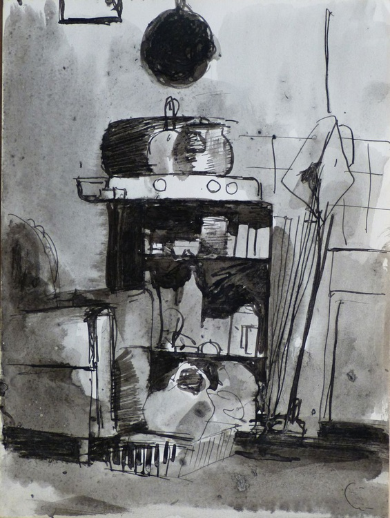 Still Life: Kitchen #9, 17x22 cm - Image 0