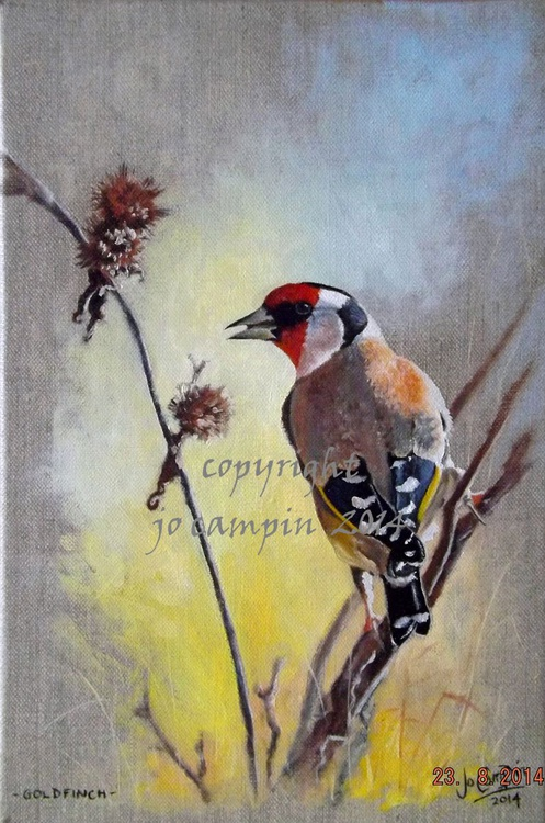 Goldfinch and thistle - Image 0
