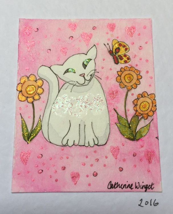 Butterfly Cat Pink - Image 0