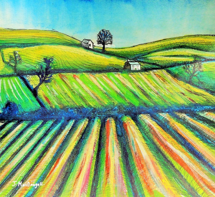 Furrowed  Fields Yorkshire - Image 0