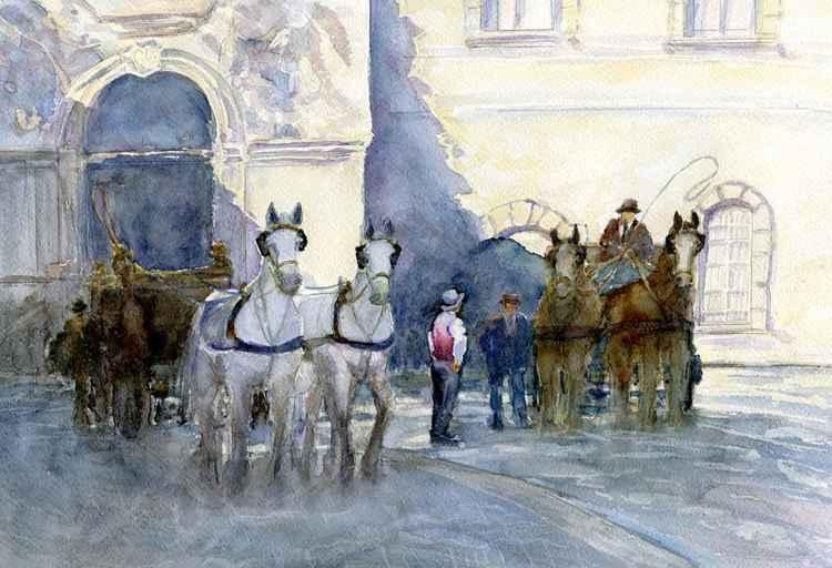 Horses waiting 11 -