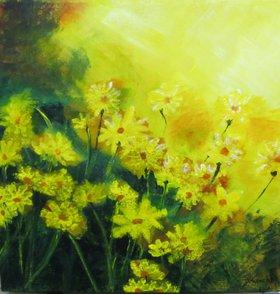 Sunlit Daisies by Debra Knecht