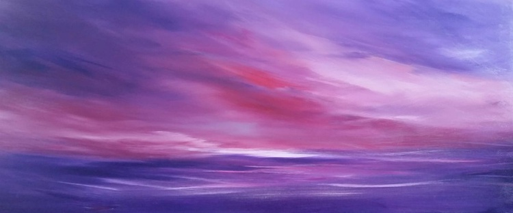 Skies of Enlightenment (Vibrant Calm 4) PANORAMIC Purple - Image 0